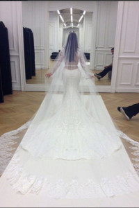 Kim Kardarshian Wedding Gown