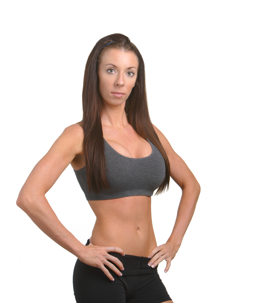 Flat Abs Woman via shutterstock
